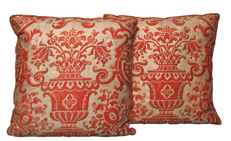 Fortuny throw pillows | Revuu: Search for Excellence in Luxury Interiors