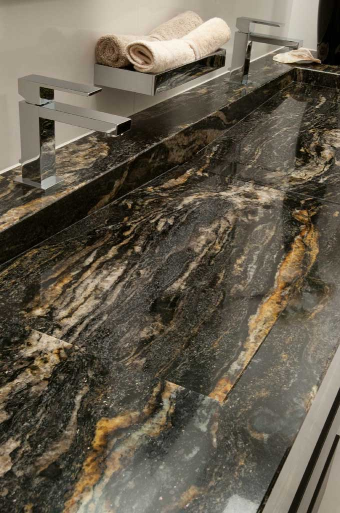 Antolini Granite Black Cosmic Polished Finish Revuu