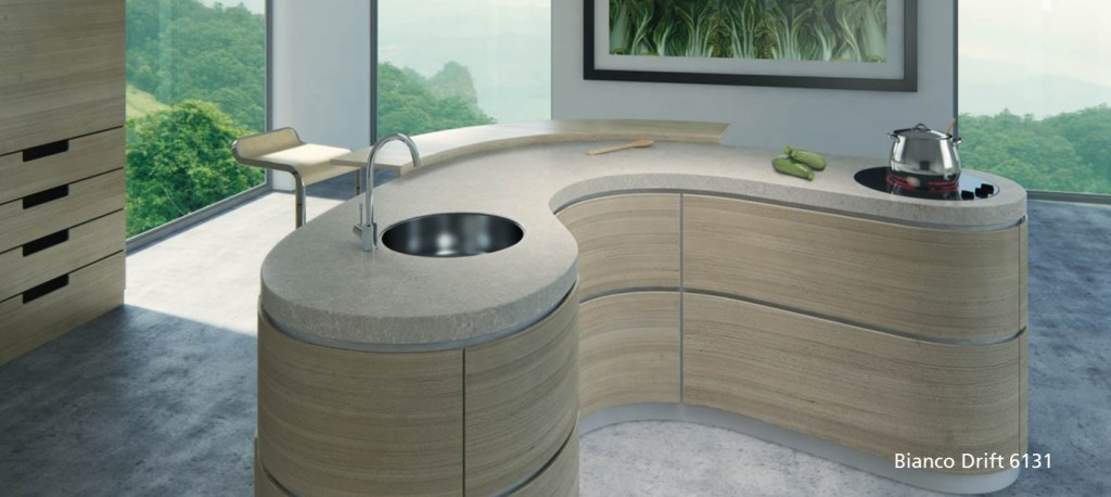Modern Caesarstone kitchen countertop | Revuu: Search for Excellence in Luxury Interiors