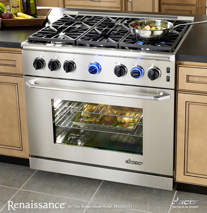 Dacor Countertop Stove : Dacor Renaissance Range 36? Gas Range, Island Model