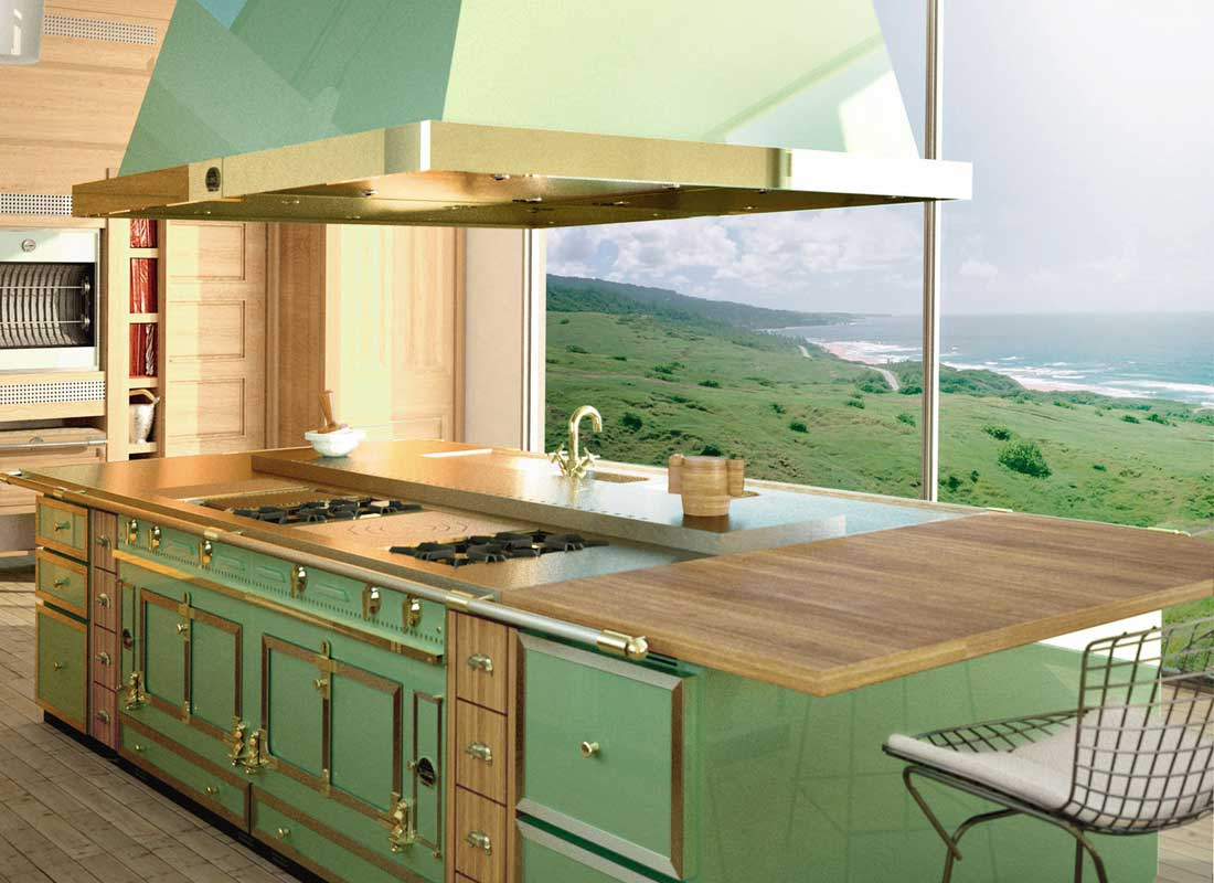 Colorful Kitchen Appliances: La Cornue Grand Palais In Green