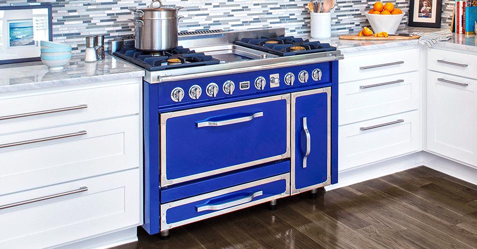 Colorful Kitchen Appliances: Viking Tuscany Range