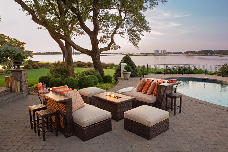 Luxury Outdoor Furniture: Agio Kolea Collection -- Outdoor Firepit and Furniture | Revuu: Search for Excellence in Luxury Interiors