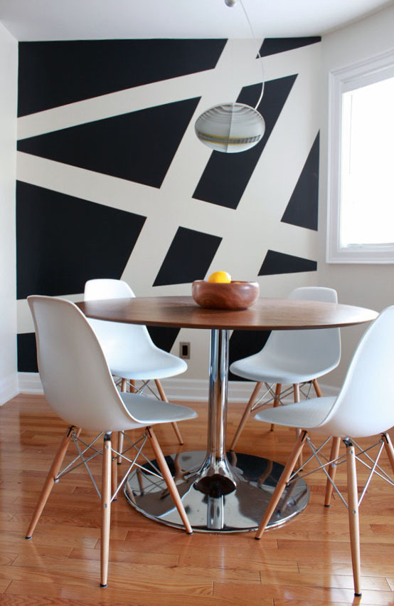 Color blocking decorative paint techniques | Interior design by Leclair Decor