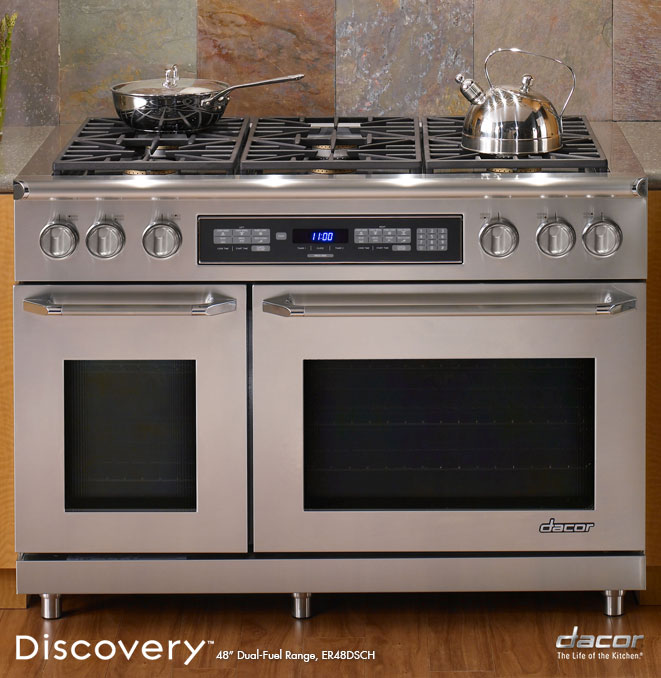 Discovery 48 inch 36inch gas cooktop revuu for Dacor 48 rangetop