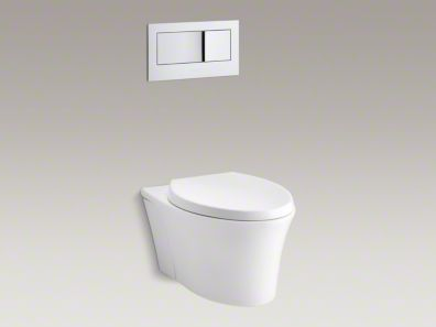 Veil One Piece Wall Hung Dual Flush Elongated Toilet